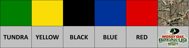 Colour options available for Argo