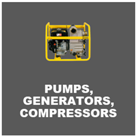 pumps, generators and compressors