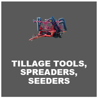 tillage tools, spreaders and seeders